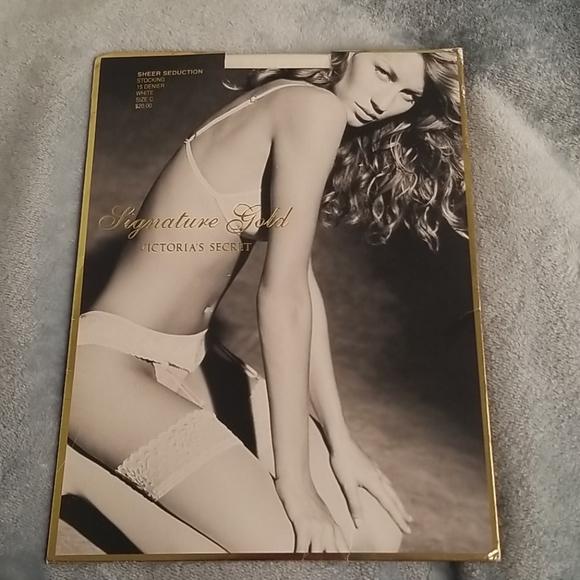 Victoria's Secret sheer seduction stocking NIP